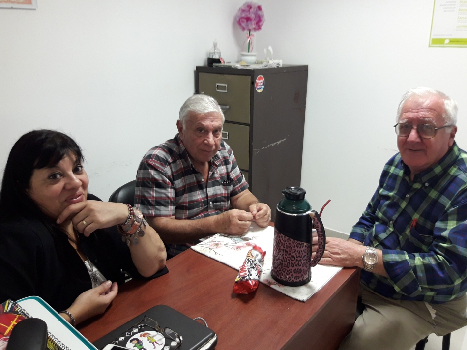 Raitman con Torrisi y Abrami