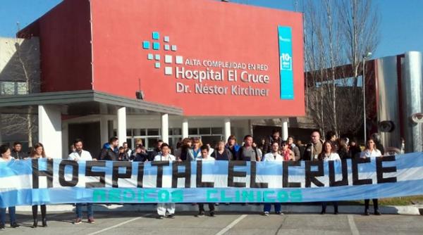 hospEl Cruce protesta